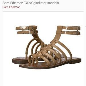 Sam Edelman size 8.5W beige Gilda strappy sandals